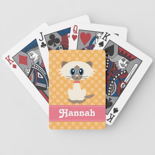 Cute Siamese Cat Bicycle® Playing Cards