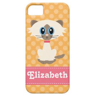 Cute Siamese Cat iPhone 5 Case