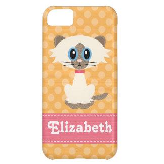 Cute Siamese Cat Cover For iPhone 5C
