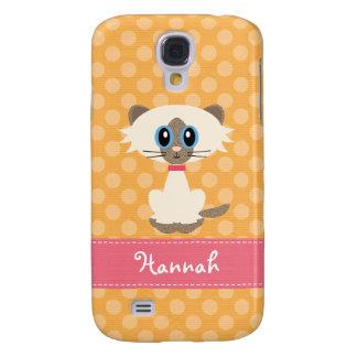 Cute Siamese Cat Samsung Galaxy S4 Cover