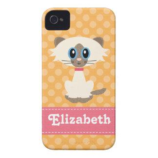 Cute Siamese Cat iPhone 4 / 4s Case-Mate Barely Th Case-Mate iPhone 4 Case