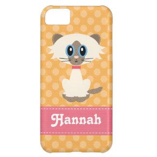 Cute Siamese Cat iPhone 5 Case-Mate Tough Cover