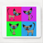 Cute Siamese Cats Mouse Pad