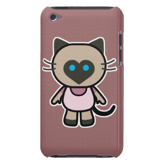 cute siamese kitty cat cartoon graphic iPod touch case