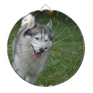 Cute Siberian Husky Dartboard