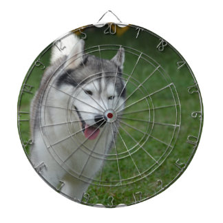 Cute Siberian Husky Dartboard With Darts