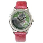 Cute Siberian Husky Wristwatch