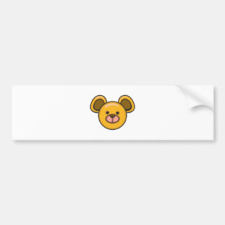 cute silly baby bear face car bumper sticker