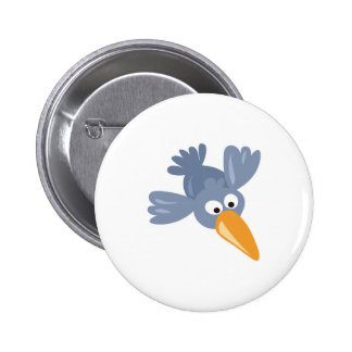 cute silly blue bird pin