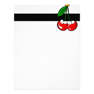 cute silly cartoon character cherries cherry letterhead