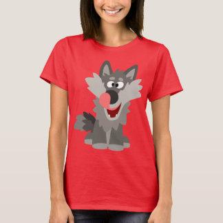 Cute Silly Cartoon Wolf Women T-Shirt