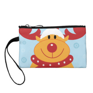 Cute Silly Christmas Reindeer! (Customize It!) Coin Purse