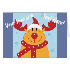 Cute Silly Christmas Reindeer! (Customize It!) Card