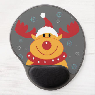 Cute Silly Christmas Reindeer Customize It Gel Mouse Mat