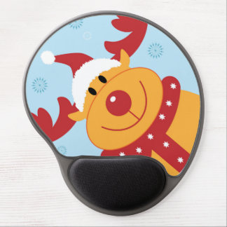 Cute Silly Christmas Reindeer Customize It Gel Mousepad