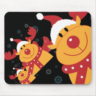 Cute Silly Christmas Reindeer Customize It Mouse Pad