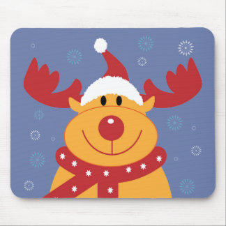 Cute Silly Christmas Reindeer Customize It Mousepad