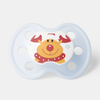 Cute Silly Christmas Reindeer! (Customize It!) Pacifier