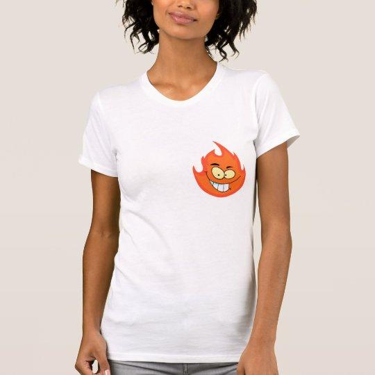 cute silly flame fire cartoon character T-Shirt