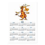 cute silly flower spots giraffe cartoon business card