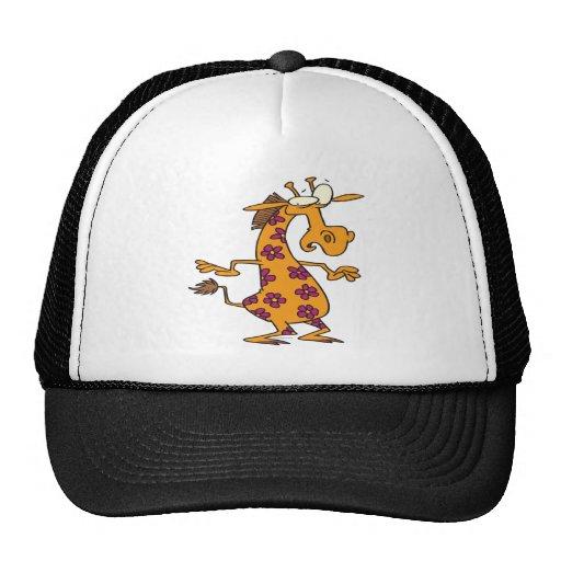 cute silly flower spots giraffe cartoon hats