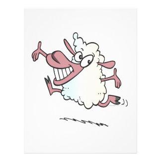cute silly happy lamb cartoon character flyers
