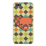 cute silly kawaii beaver and argyle case for iPhone 5