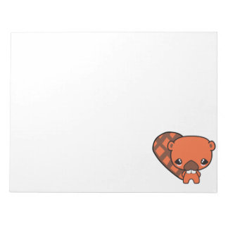 cute silly kawaii beaver memo pad