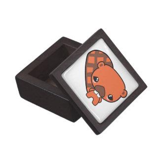 cute silly kawaii beaver premium jewelry box