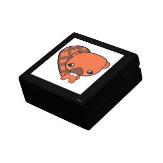cute silly kawaii beaver trinket box