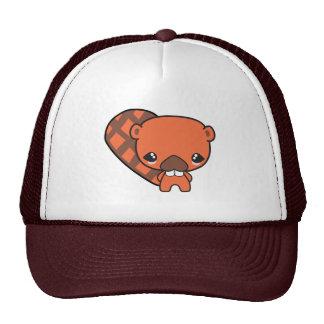 cute silly kawaii beaver trucker hat
