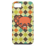 cute silly kawaii beaver with argyle iPhone 5 cases