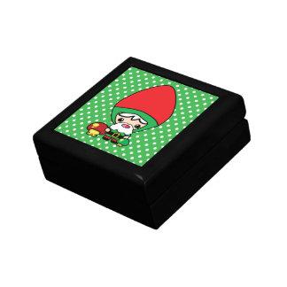 cute silly kawaii garden gnome and mushrooms gift box