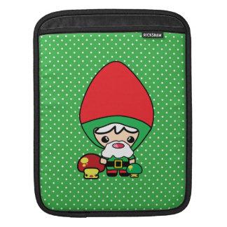 cute silly kawaii garden gnome and mushrooms iPad sleeves