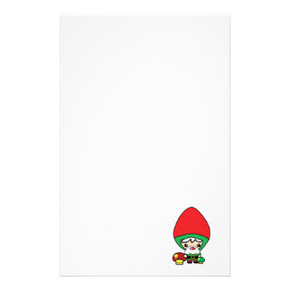 cute silly kawaii garden gnome and mushrooms stationery