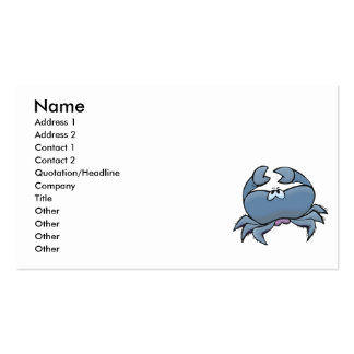 cute silly little blue crab Double-Sided standard business cards (Pack of 100)