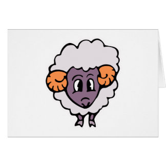 cute silly little sheep card