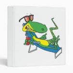 cute silly lounging sun lizard cartoon binders
