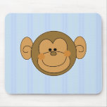 Cute Silly Monkey Face Mouse Mats