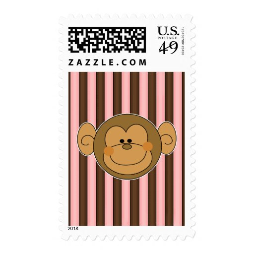 Cute Silly Monkey Face Postage Stamps