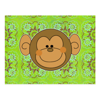 Cute Silly Monkey Face Postcard
