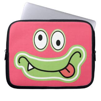 Cute Silly Monster Face Cartoon Laptop Computer Sleeve