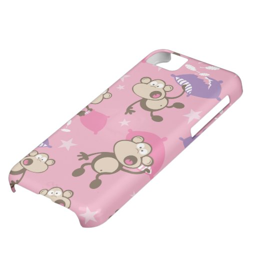 cute silly pillow fighting fight monkeys cartoon case for iPhone 5C