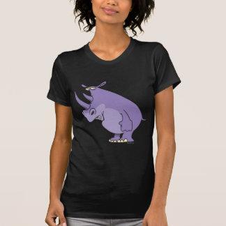 cute silly purple rhino rhinoceros cartoon tshirts