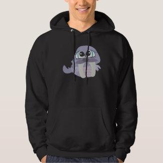 cute silly purple walrus vector character hoodie
