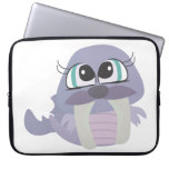 cute silly purple walrus vector character laptop computer sleeve