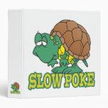 cute silly slow poke turtle cartoon binder