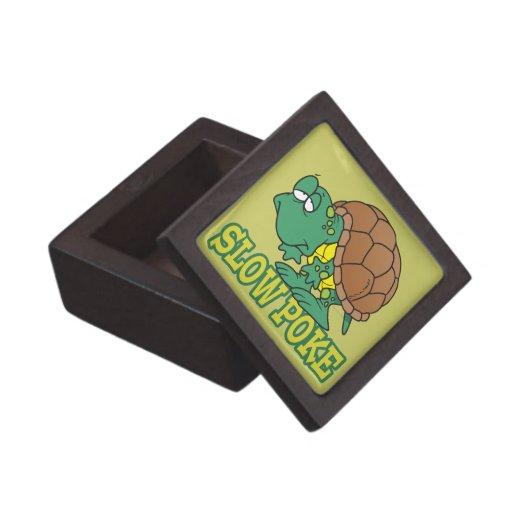 cute silly slow poke turtle cartoon premium keepsake boxes