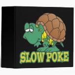 cute silly slow poke turtle cartoon vinyl binders