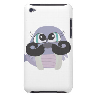 cute silly walrus cartoon with mustache barely there iPod cover